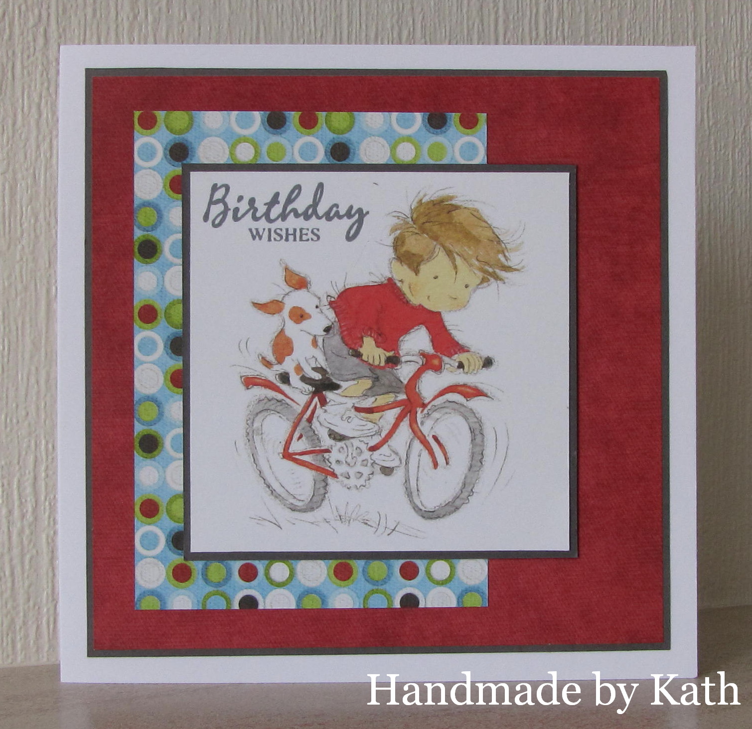 Handmade by kath ride my bike image lili of the valley reding my bike precoloured topper stamp woodware salutations ink memento gray flannel card dark grey matt kristyandbryce Image collections