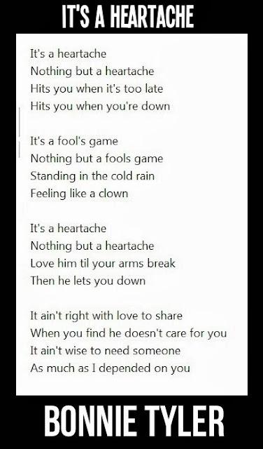 It's a heartache, nothing but a heartache,lyrics.