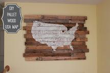 Diy Pallet Wood Usa Map
