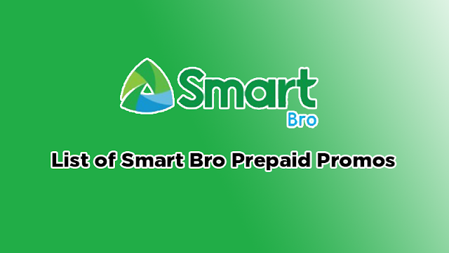 List of Smart Bro Prepaid Data, Text and Call Promos