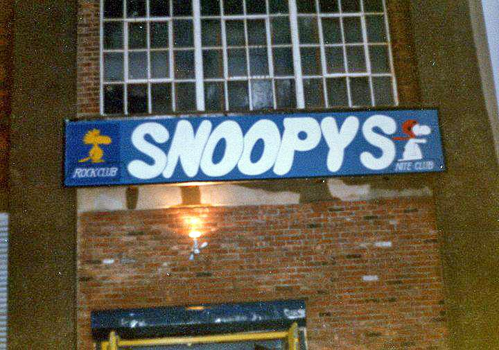 Snoopy's rock club formally The Factory rock club in Staten Island, New York