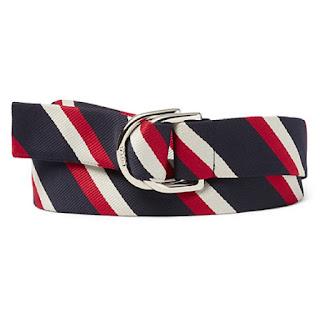 Ralph Lauren Team USA Ceremony navy red and white striped belt