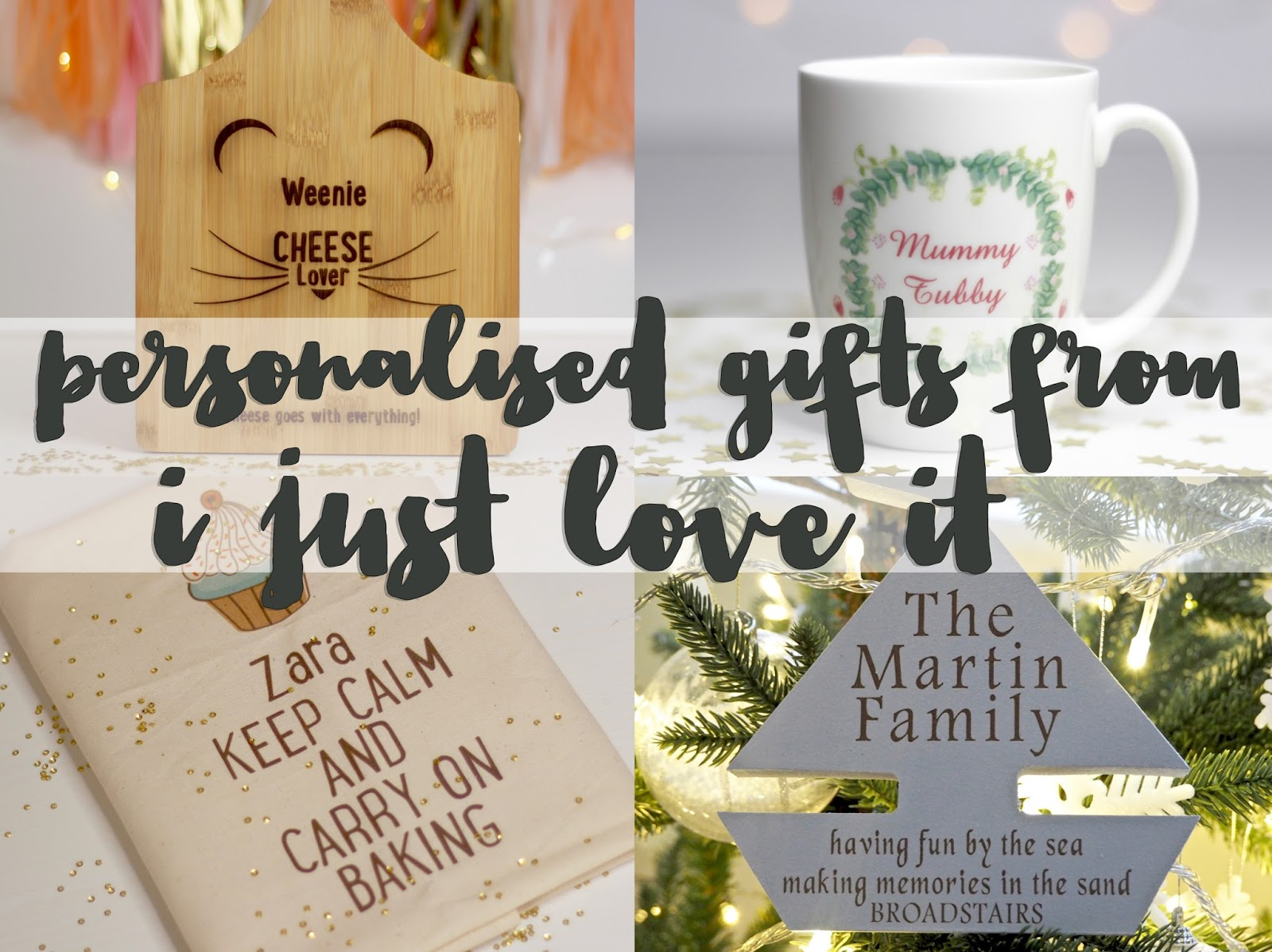 Personalised Christmas gifts from ijustloveit.co.uk | flutter and ...