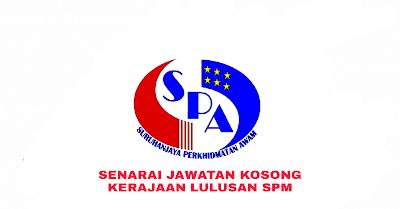 Senarai Jawatan Kosong Kerajaan Kelayakan SPM 2019