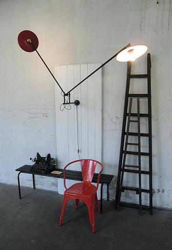 wo and w collection double lampe murale articul e r flecteur rouge. Black Bedroom Furniture Sets. Home Design Ideas