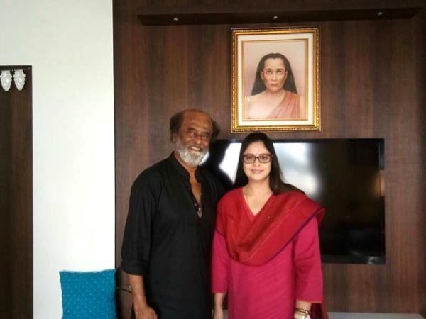 Nagma Meets Rajinikanth at His Residence In Chennai