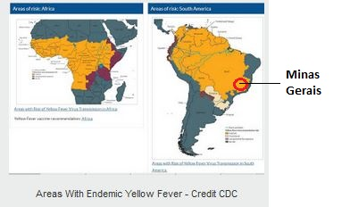 Avian Flu Diary: CDC Level II Travel Notice: Yellow Fever in zil on