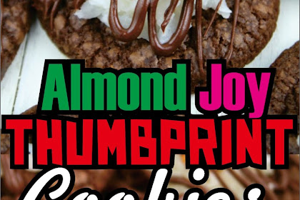 Almond Joy Thumbprint Cookies #Christmas #cookies