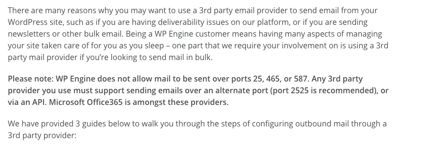WP Engine Hosting Email Versatility