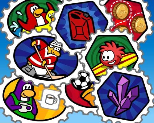 Resultado de imagem para livro de selos club penguin