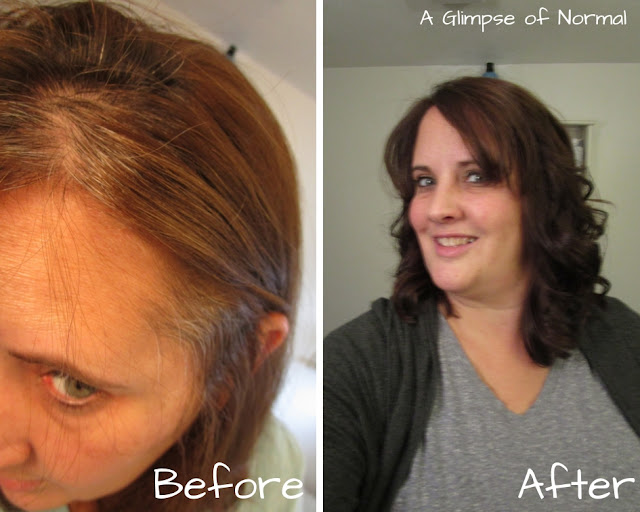 Do you want to hide the gray from your hair?  Check out my post on A Glimpse of Normal where I share about a hair dye that really works without damaging your hair.