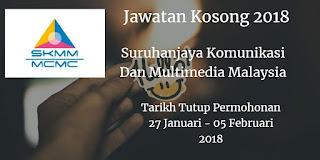 Jawatan Kosong MCMC 27 Januari - 05 Februari 2018