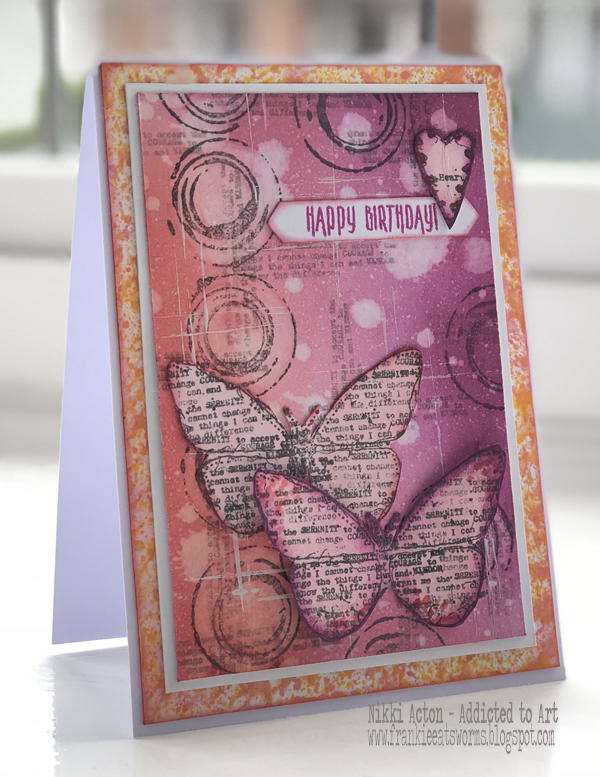 Distress Oxides Birthday Card with AALL and Create stamps (Tracy Evans) - by Nikki Acton