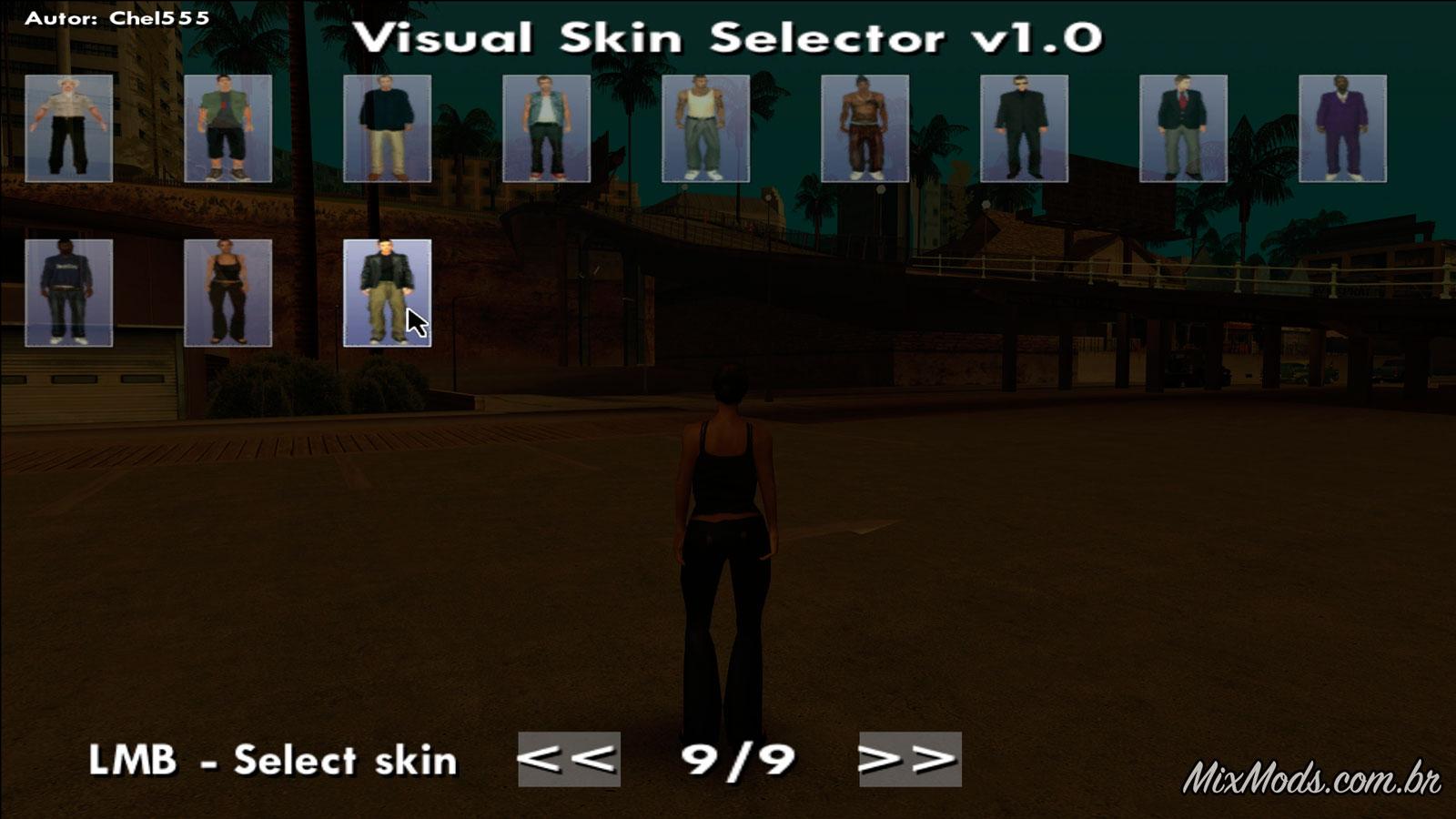Gta san andreas visual skin selector v1. 1 mod gtainside. Com.