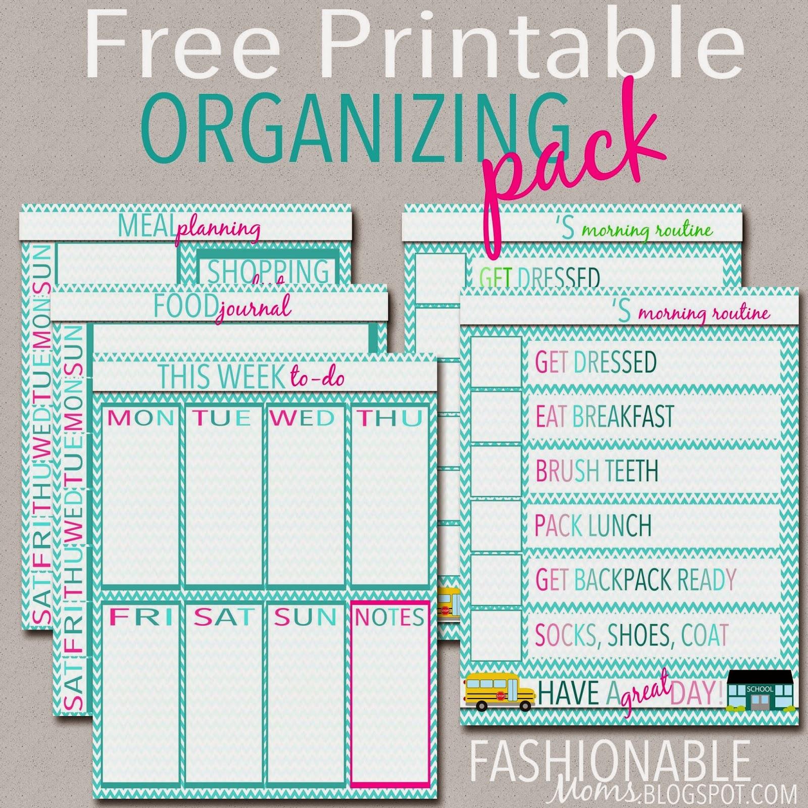 My Fashionable Designs Free Printable Organizing Pack