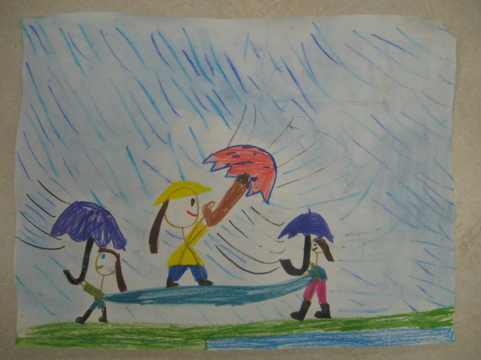 Miss Young S Art Room 1st Grade Rainy Day Art
