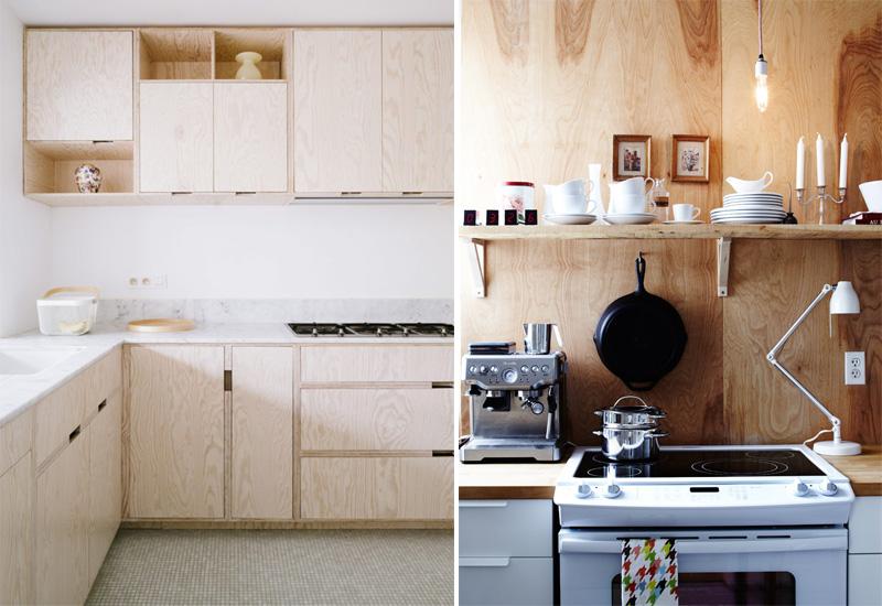 Dal massello ai pannelli, il legno grezzo è tra i top trend 2017 cucina in compensato