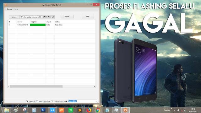 Mengatasi Proses Flashing HP Xiaomi Berjalan Sangat Lama (gagal)