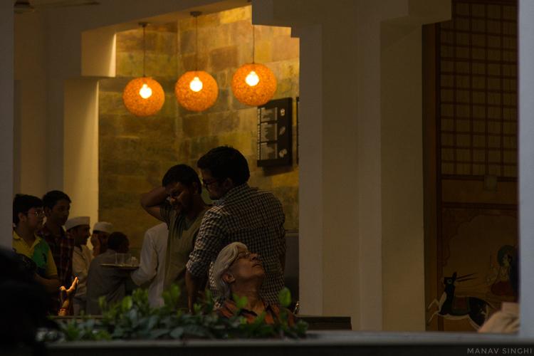 A shot taken at Indian Coffee House, Jawahar Kala Kendra, Jaipur.