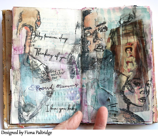 Proud Mumma Art journal Page for AALL & Create
