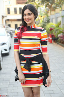Adha Sharma in a Cute Colorful Jumpsuit Styled By Manasi Aggarwal Promoting movie Commando 2 (4).JPG