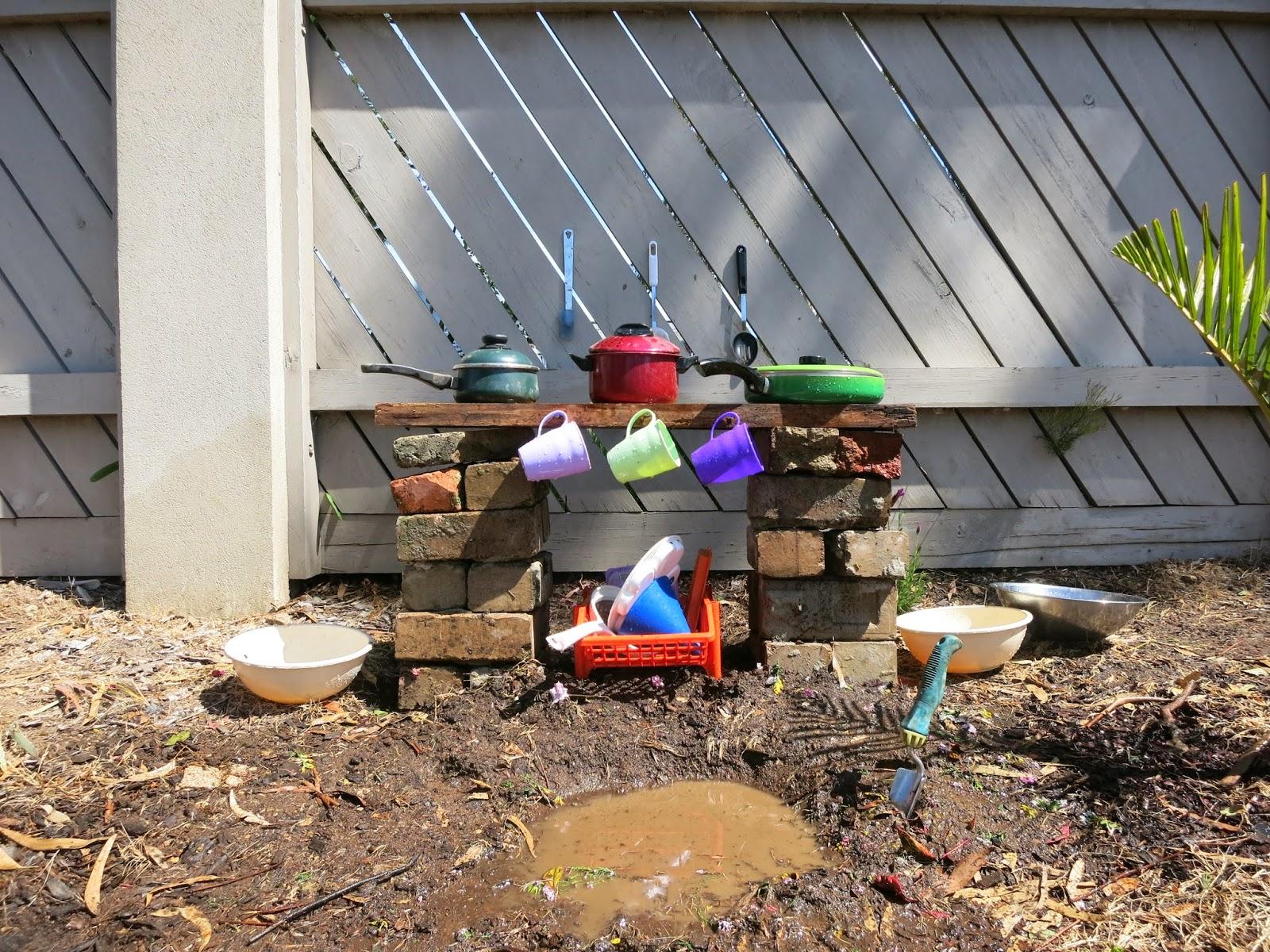 outdoor playground mud kitchen