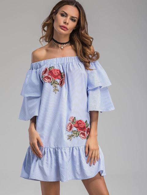 http://it.shein.com/Bardot-Neckline-Striped-Flower-Patches-Frill-Dress-p-357830-cat-1727.html?utm_source=unconventionalsecrets.blogspot.it&utm_medium=blogger&url_from=unconventionalsecrets