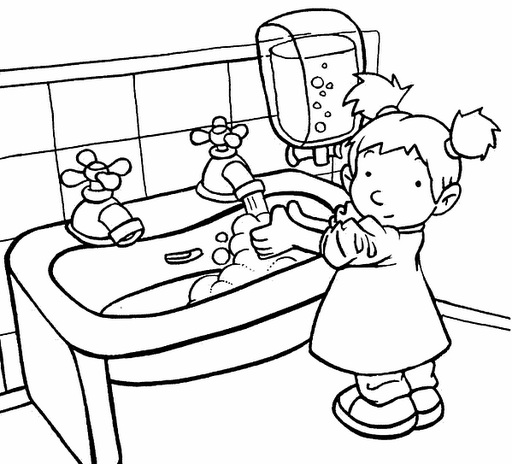 hand hygiene coloring pages | Coloring Pages For Handwashing ~ Top Coloring Pages