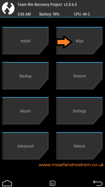 Wipe Data TWRP Recovery Android