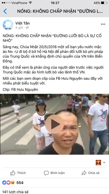 No-U và Việt Tân âm mưu khơi lại các cuộc biểu tình  mang danh nghĩa chống Trung Quốc?