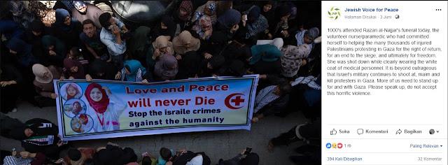 dukungan yahudi kepada rakyat palestina