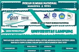 Lomba Karya Tulis Pekan Ilmiah Nasional Pelajar & Mahasiswa 2018 UNILA