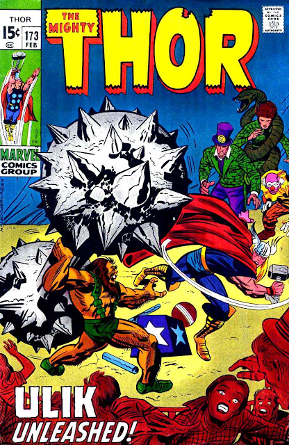 Thor v1 #173 marvel comic book cover art by Jack Kirby