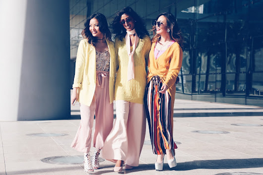 Power Trio: Sporting Pink + Yellow for Fall 2016