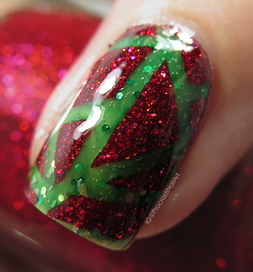 Nail Art The Digit Al Dozen Does Colour Contrasts Red And Green