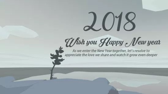 New year Greetings 2018