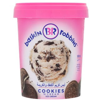 Tesco Baskin Robbins Cookies 'N Cream Ice Cream 500ml