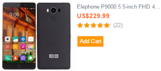 Elephone P9000 5.5-inch FHD 4GB 32GB MTK6755 Octa-core
