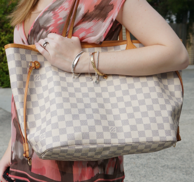 Louis Vuitton damier azur neverfull bag