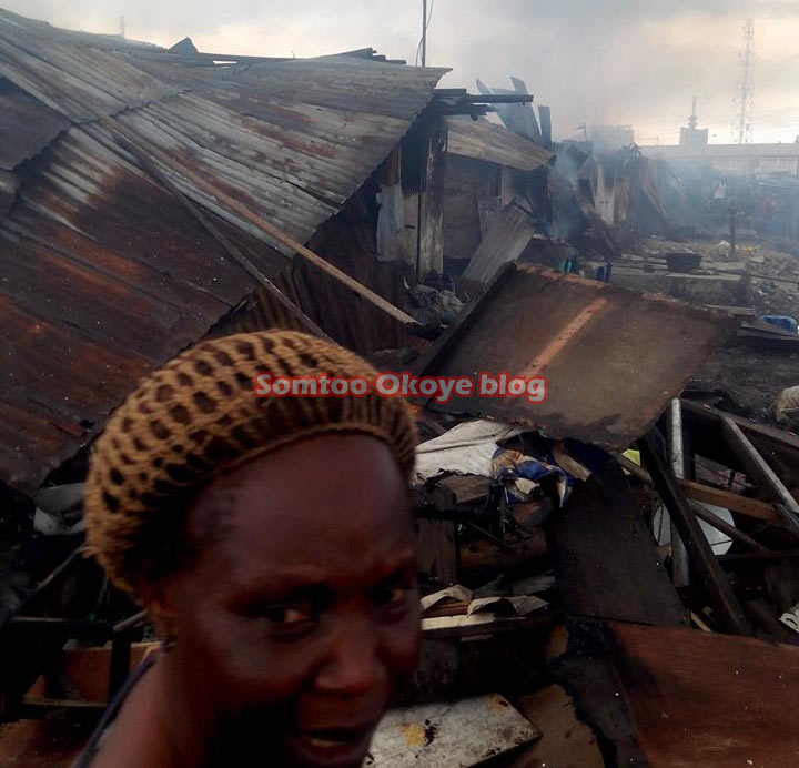 Exclusive photos: Fire razes Police barracks in Lagos