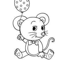 Baby Mouse And Ballon Coloring Sheet Ideas