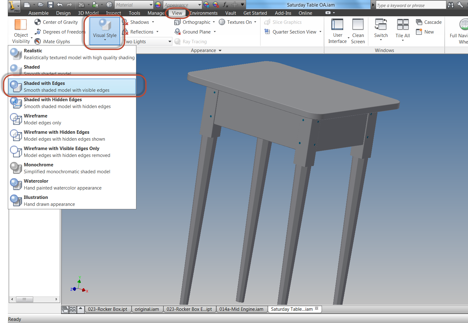 Changing Default Edge Display Settings in Autodesk Inventor