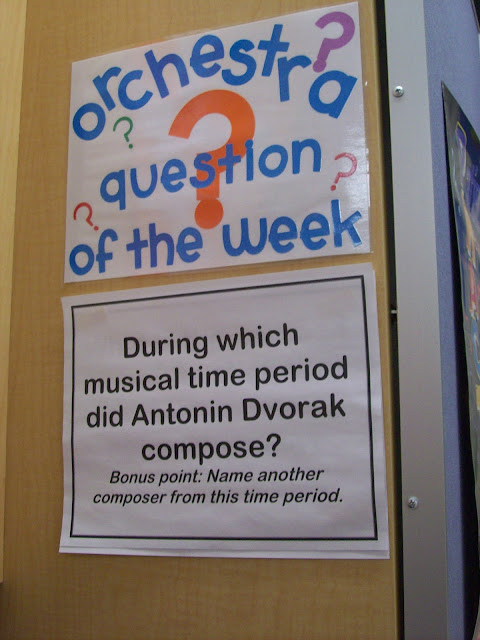 Question of the week orchestra question