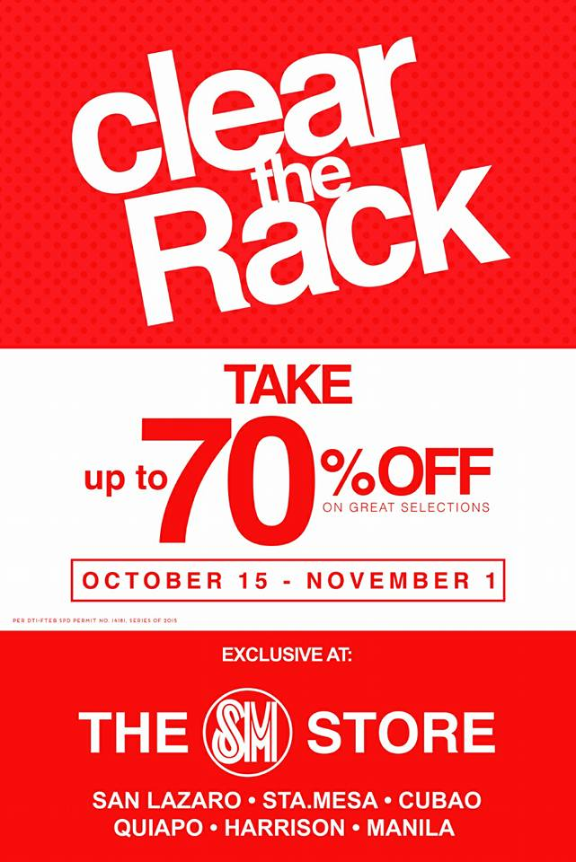 Check Out Sm S Cubao Quiapo Harrison Plaza And Located At San Lazaro Sta Mesa Manila For Their Clear The Rack