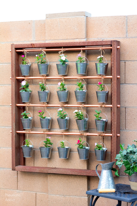 how to make copper wood galvanized vertical herb flower garden tutorial