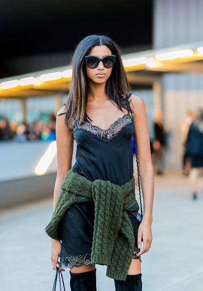 Street Style: Imaan Hammam After Versace in Paris
