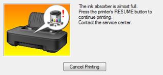 cara memperbaiki printer canon ip2770 lampu orange berkedip 4 kali – memang printer jenis Cannon IP2770 ini sering mangalami permaslahan atau error-error yang terjadi, akan tetapi permasalahan itu tidak mungkin tidak dapat diatasi sebab jika tidak bisa diatasi berarti printer tersebut termasuk printer gagal produk. Permasalahan berkedipnya lampu indikator yang berwarna orange 4 kali tidaklah asing lagi bagi teknisi printer karena permaslahan ini umum terjadi, karena berkedipnya lampu orange ini disebabkan oleh printer anda yang mengalami Priner Absorber Full.  Kenapa printer bisa mengalami Absorber Full?