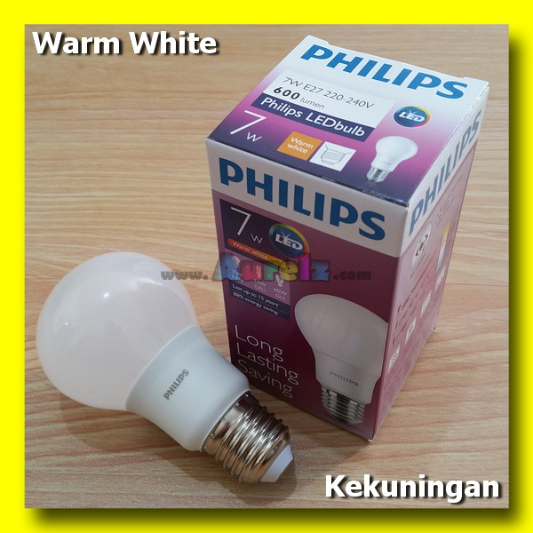 lampu led philips 7.5 watt warm white