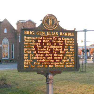 Brig. Gen. Elias Barbee Historical Marker in Campbellsville Kentucky