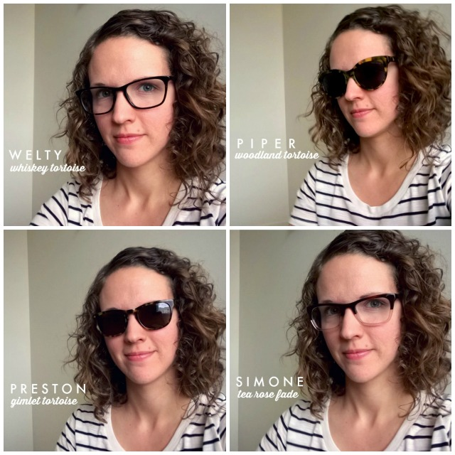 9 Perks of Wearing Glasses + Warby Parker Home Try-On (welty, piper, preston, simone)